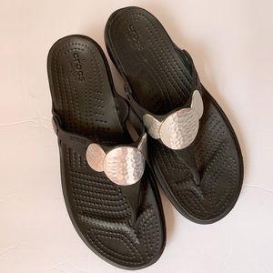 Crocs flip flops sandals size 7 womens.